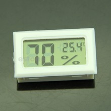 A96 F85 Free Shipping LCD Digital Temperature Humidity Meter Gauge Thermometer Hygrometer 10%~99%RH White