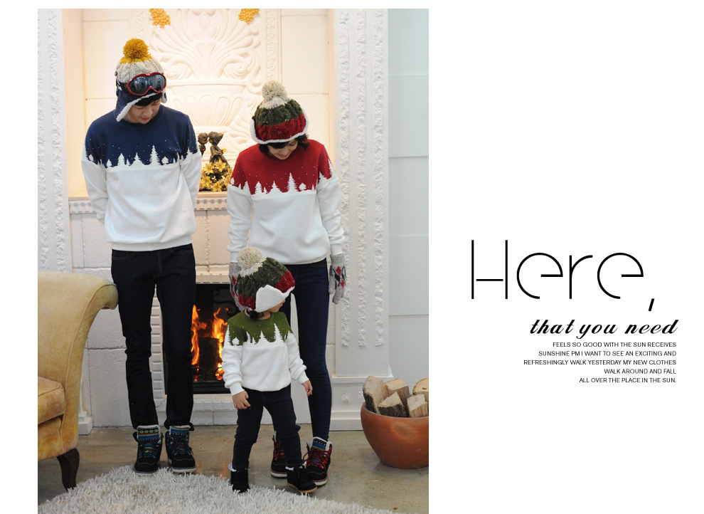 Free Shipping 2015 Family Christmas Cotton Warm Autumn Winter Mother Dad And Kids Long-Sleeve T-shirt Family Clothes Set  HTB1ZMgeGVXXXXa_XFXXq6xXFXXXl