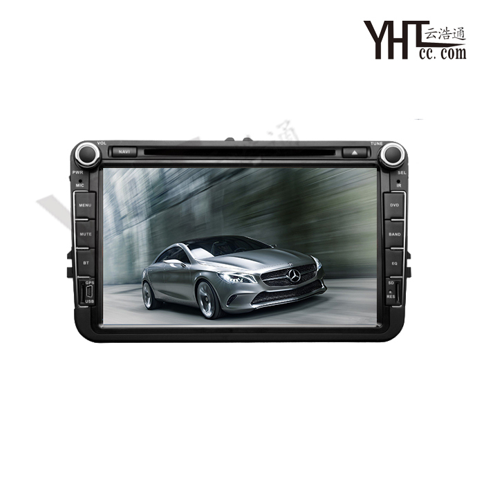 Double Din 8 Inch Capacitive Touch screen Car DVD Player For VW  Steering Wheel Dual Core Car Stereo GPS Radio+Canbus  DVD Video(China (Mainland))