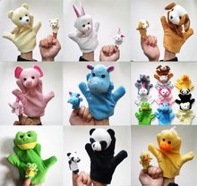 Free shipping !! 1lot =10pcs Animal  hand puppet ,Animal dolls, finger puppet, finger toys, finger doll(China (Mainland))