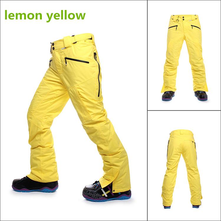 Fashion Men's Thick Ski Pants Snow Pants Waterproof Windproof Breathable Professional Snowboard Pants Optional Five Colors