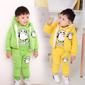 baby boy set winter Cartoon bay max thick clothing set tracksuit toddler boy warm clothes with