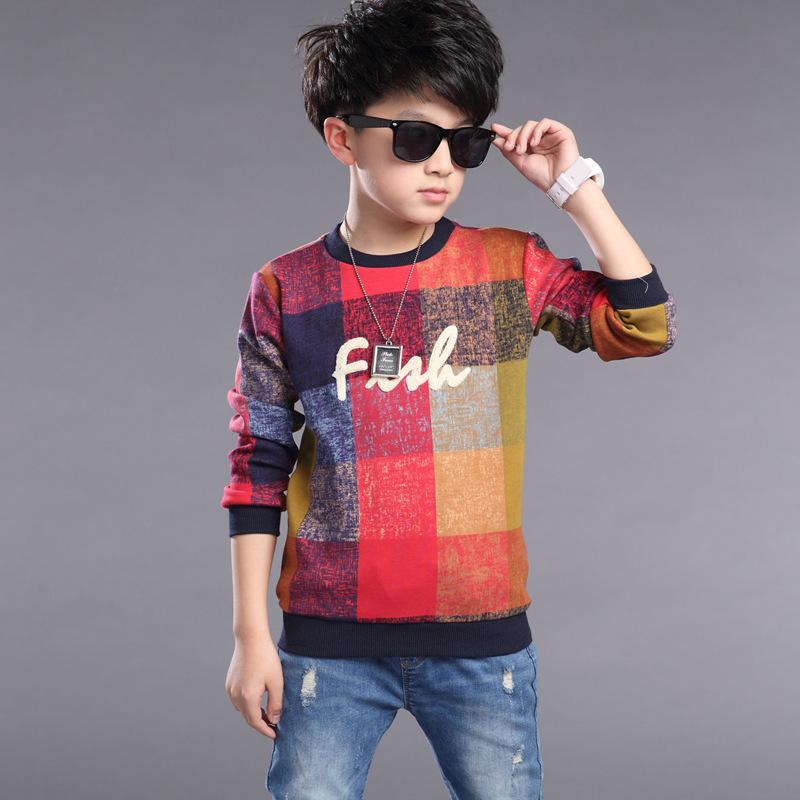 2016 Autumn New Boys T Shirt Children Boy Clothes Kids Cotton Long Sleeve T Shirt Tops