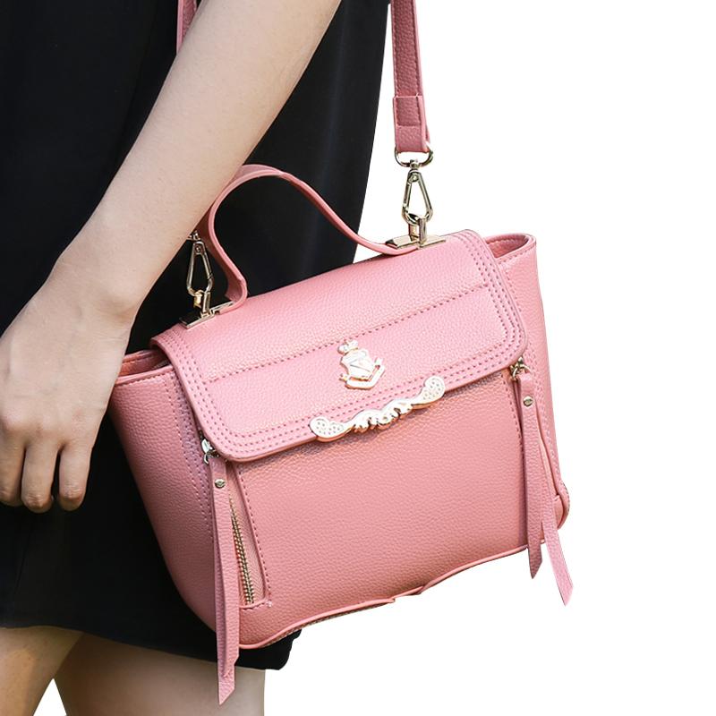 The 2015 summer embossed bag smile package diagonal bag Crossbody handbag Japan sweet crown(China (Mainland))