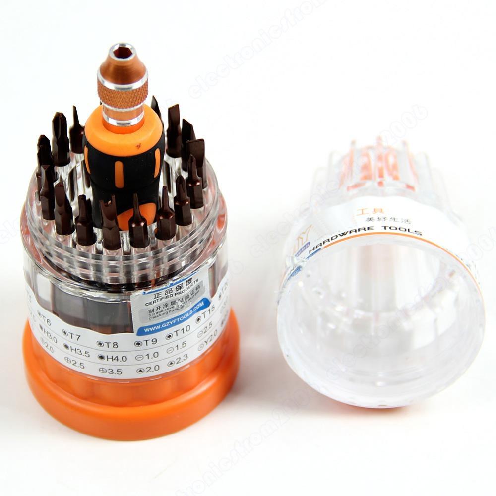 Y142 37 In 1 Precision Electron Torx Screwdriver Tool Set Repair Box Computer Phone(China (Mainland))