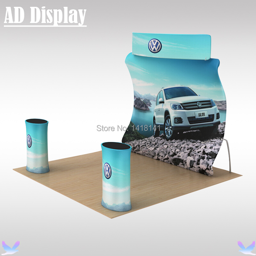 3m*3m Exhibition Booth Portable U Shape Tension Fabric Wall Backdrop,Trade Show High Quality Display Banner Stand With Printing(China (Mainland))