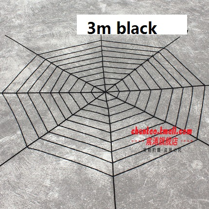 Nylon Fabric Black Widow Giant Spider Web for Halloween Indoor Outdoor Decorations and Gifts Black Available(China (Mainland))