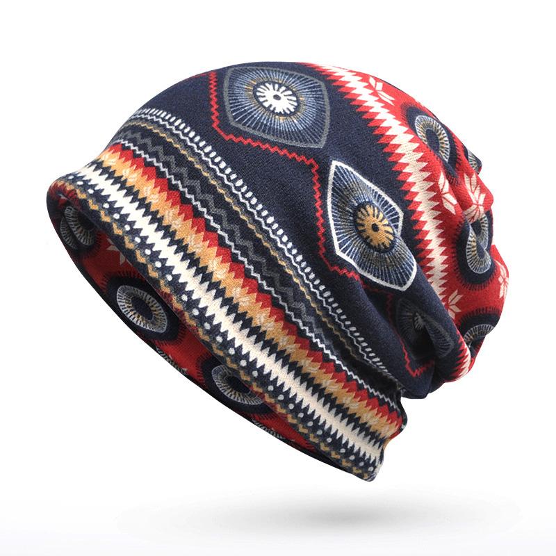 [JAMONT] Women's Sport Hip Hop Beanies Collor Scarf Winter Hats Q3382