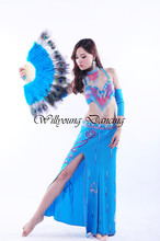 High Quality Handmade Egyptian Belly Dance Costumes 5 pieces/set Bra & Skirt & 2pcs Sleeves & Necklace S/M/L Sizes 3 Colors
