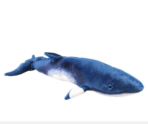 Free shipping Minke Whale 54cm Plush Toys Dolls large long Pillow about 52cm plush toy for birthday gift(China (Mainland))