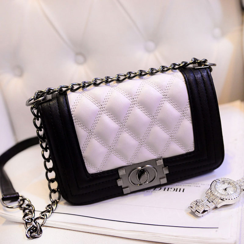 New Fashion Classical Channel Handbags Women Bags 2015 Chain Woman Chanelled Bag Designer PU Leather Handbag For Lady Bolsa(China (Mainland))