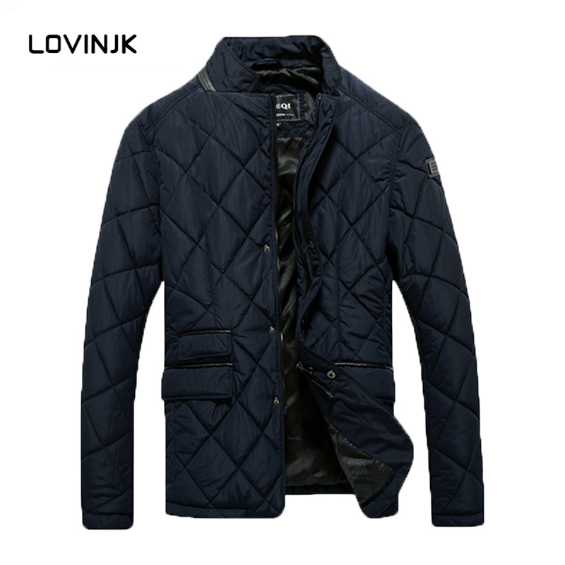 2016 Newest Mens Brand Solid Winter Thick Cotton Jacket Men Stand Collar Fashion Quality Parka Men Overcoat GQ15-05(China (Mainland))