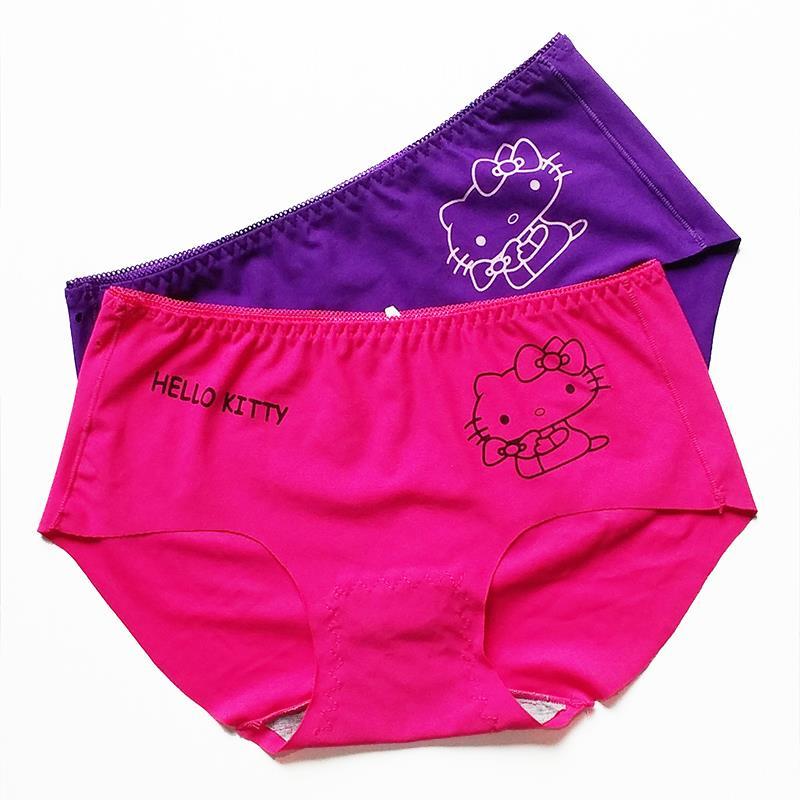 Sexy Women Panties Hello Kitty Cute Underwear Women Cotton Seamless Briefs For Women Lady Lingerie Calcinha Intimates WP030(China (Mainland))