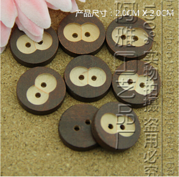 Decorative buttons diy beads wooden button bulk wooden for Decorative pins for crafts
