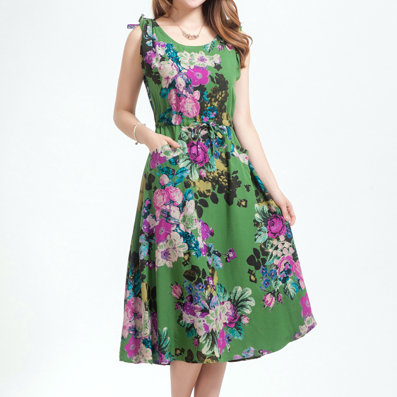 2015 New Summer Women Dresses Cotton 100% Elegant Slim ...