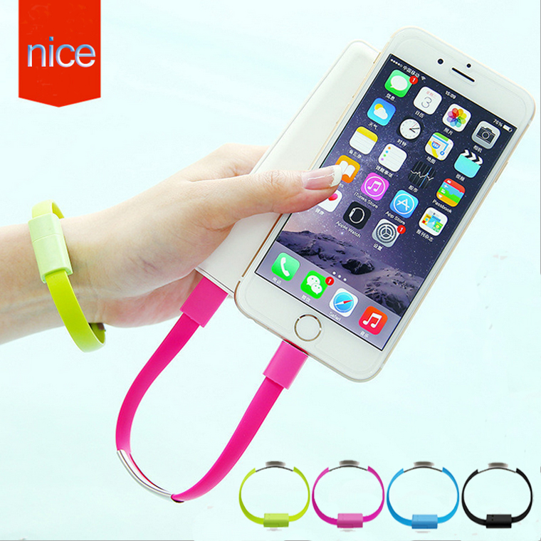 Colorful Bracelet Twisted Cable Bangle Android Short Micro USB Data Charging Cable For Samsung Xiaomi For iphone 5 6 S plus(China (Mainland))