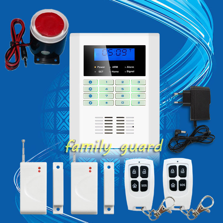 Free Shipping!101 zone 99 wireless zone and 2 wired Quad-Band LCD home security PSTN GSM alarm system 850/900/1800/1900MHZ(China (Mainland))