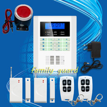 Free Shipping  101 zone 99 wireless zone and 2 wired Quad-Band LCD home security PSTN GSM alarm system 850/900/1800/1900MHZ