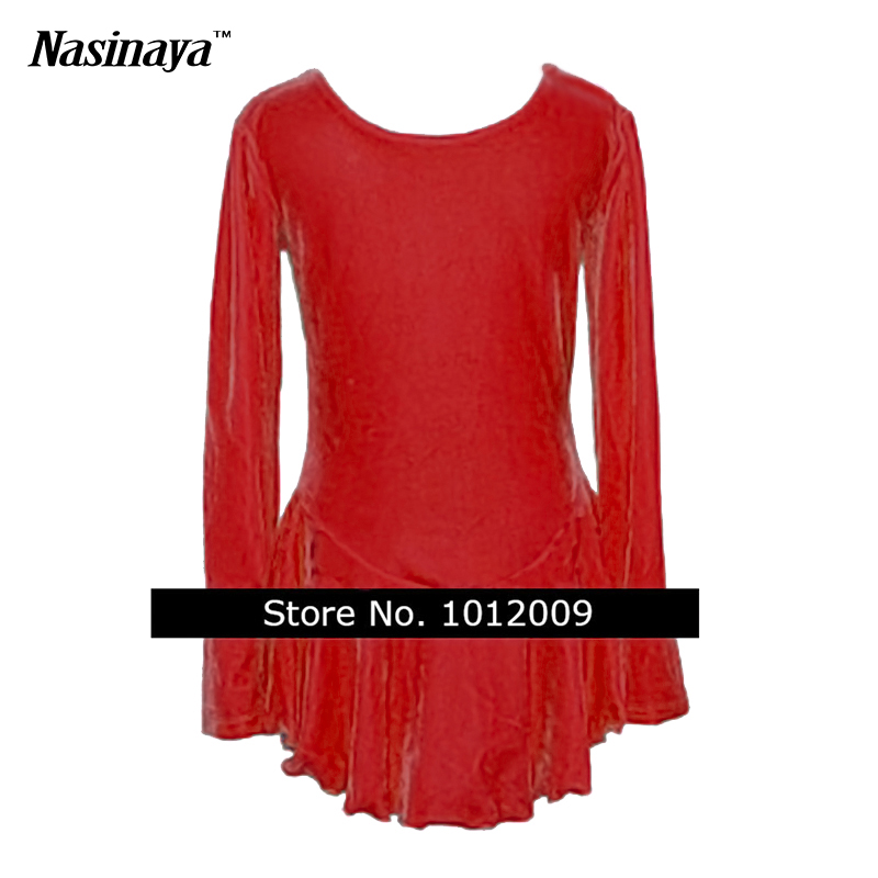 Customized Costume Ice Skating Figure Skating Dress Gymnastics Competition 24 Colors Velvet Adult Girl Performance Round Neck(China (Mainland))