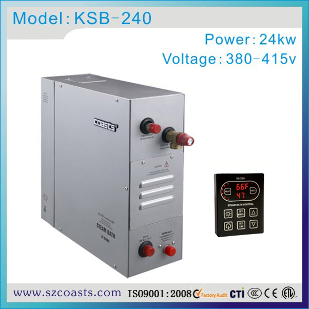 New arrival Coasts 24kw 380v steam generator 2 minutes fast steam with CE approval(China (Mainland))