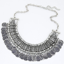 Buy Vintage Maxi Statement Necklaces & Pendants Bohemian Coin Necklace Women 2017 Female Choker Collier Femme Boho Jewelry Bijoux for $3.42 in AliExpress store