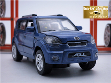 15CM Length Diecast Kia Soul Model Car, Kids/Childrens/Boys Metal Toys Gift With Openable Door/Pull Back Function/Music/Light(China (Mainland))
