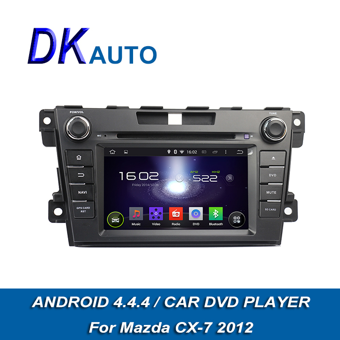 "Great Car DVD Player 2 Din 7"" for Mazda CX 7 2012 Pure Android 4.4.4 OS OBD Map Amplifier USB GPS Navi DVR FM Handsfree DVB T T2(China (Mainland))"