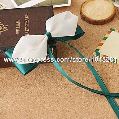 Green Satin Ribbon 11cm Bow Sweet Lolita Barrette lolita Necklace accessories christmas Free Shipping(China (Mainland))