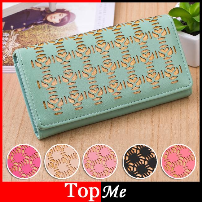 Гаджет  Wholesale Fashion Women Wallet Brown PU Leather Lady Handbags Money Coin Purse Female Keys Phone Bags Free Shipping None Камера и Сумки