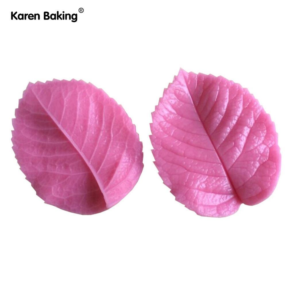 Leaf Press Mold Shaped Silicone Mold Cake Decoration Fondant Cake 3D Food Grade Silicone Mould -C343(China (Mainland))