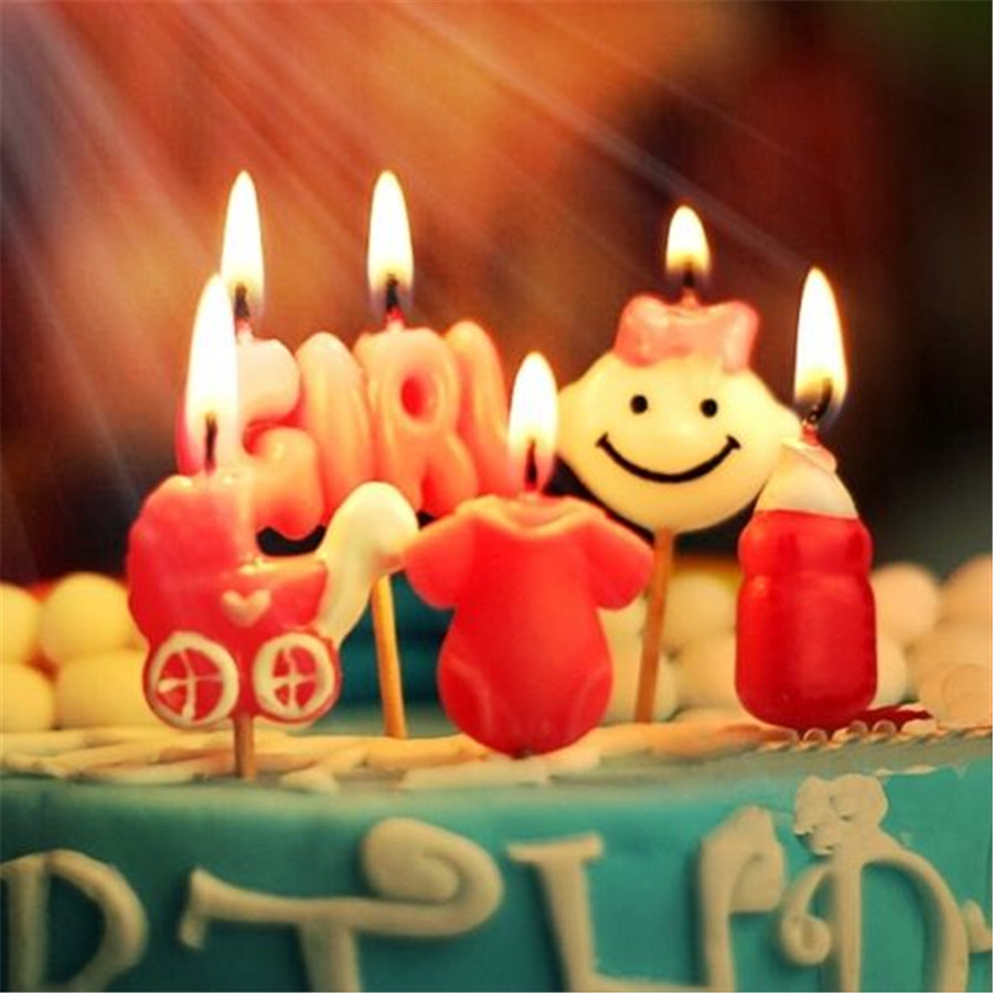 new Happy Birthday Candles Toothpick Cake Candles Party Decor ~Cute ...