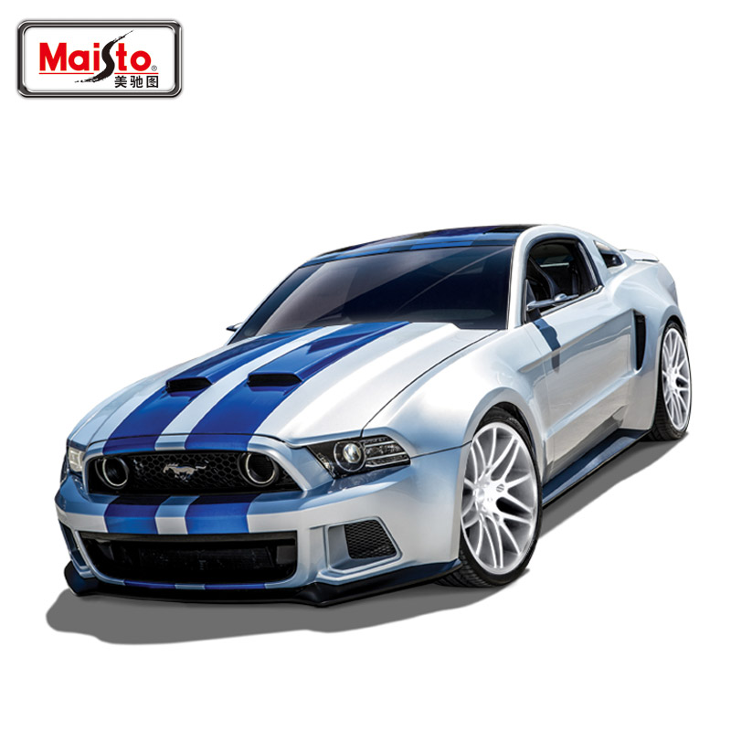 Free Shipping Brand New 1/24 Scale Diecast Car Model Toys Classical Ford Mustang GT Metal Car Toy For Gift/Kids/Collection(China (Mainland))