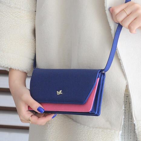 2015 Korean PU Leather Small Fashion Bag Mini Women Messenger Bag Female Clutch Wallet 2014 Shoulder Crossbody Bags For Women(China (Mainland))