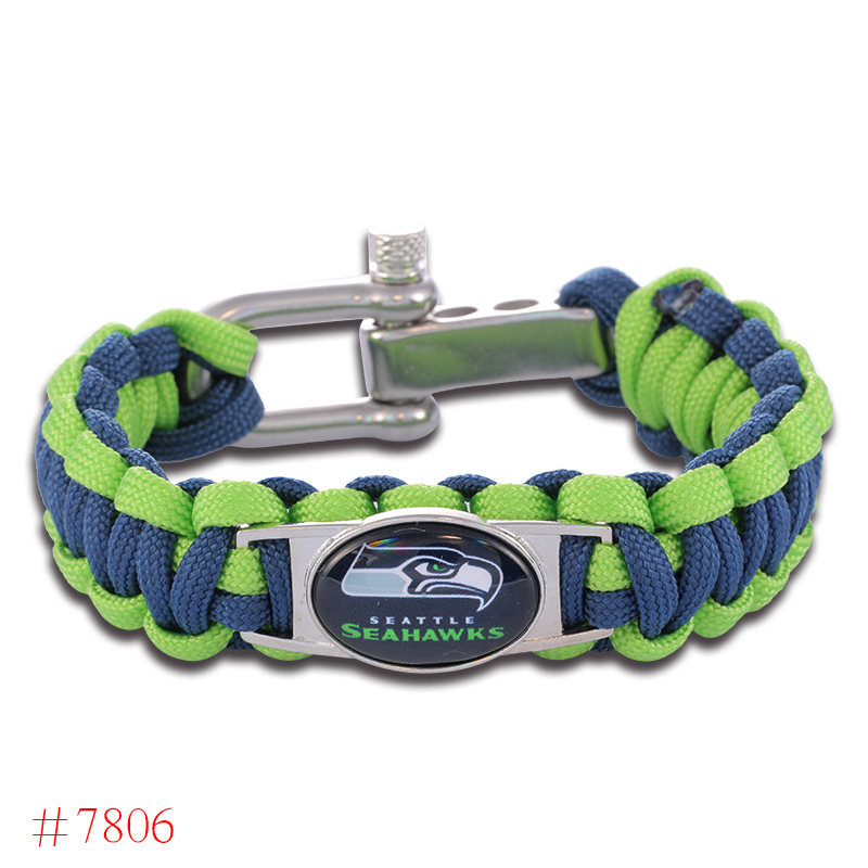 NFL Seattle Seahawks Paracord Bracelet Adjustable Survival Bracelet Football Bracelet , Drop Shipping! 6Pcs/lot!(China (Mainland))