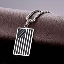 Buy Hot US National Flag Pendant Necklace American Fashion Jewelry Stainless Steel/Gold Color Patriot Necklace Men Chain GP1810 ) for $6.99 in AliExpress store