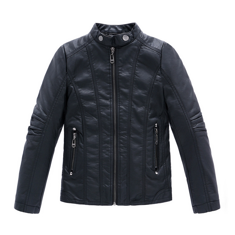 2015 New Fashion Autumn Spring Boys Girls PU Leather Jackets Children 4-16Y Clothing Kids Warm Coat Outerwear - Yiwu Rex Guo's store