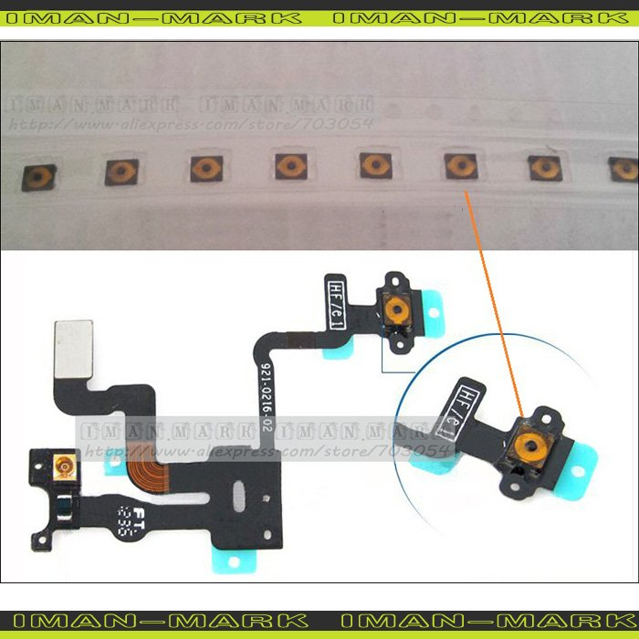 Brand New Original micro Spring piece Terminal For iPhone 4S 4 Power sleep button Light sensor headphone audio Jack Flex Cable