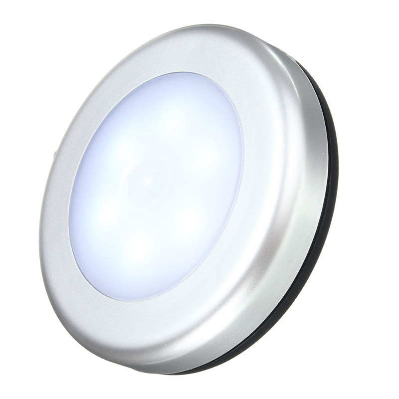 120 Degree 6 LED Bright Wireless PIR Motion Sensor Night Light Wall Wardrobe Cabinet Lamp Battery Power For Bathroom(China (Mainland))