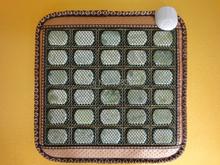 Heated jade stone massage cushion germanium electric seat cushion cover heated chair cushion office 45X45CM(China (Mainland))
