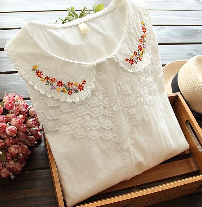 Buy free shipping high quality peter pan for White cotton shirt peter pan collar