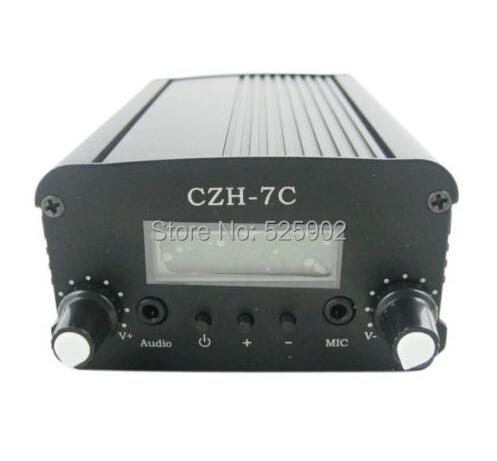 FREE SHIPPING 7W CZH-7C 76-108MHZ FM stereo PLL FM Transmitter Car MP3 PLL Transmitter Broadcast Equipment(China (Mainland))