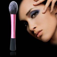 Lovely Pink Fiber Cosmetic Powder Foundation Long Aluminum Tube Brushes Cosmetics Professional Makeup Brush Set Hairbrush