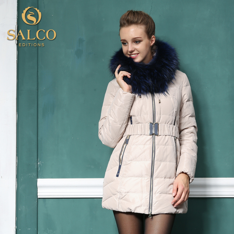 2014 European and American fashion newest big raccoon fur down jacket and long sections Ms.Одежда и ак�е��уары<br><br><br>Aliexpress