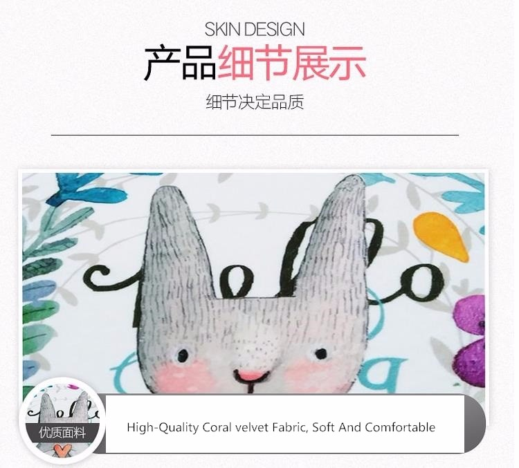 50X80+50X120CM/Set Painted Rabbit Kitchen Mat Anti-Slip Bathroom ...