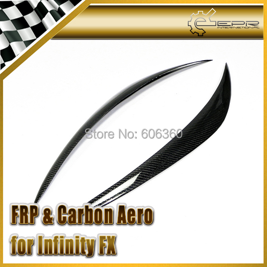 For Infinity FX 35 37 50 2009-2013 Carbon Fiber Headlight Eyebrow Eye Lid(China (Mainland))