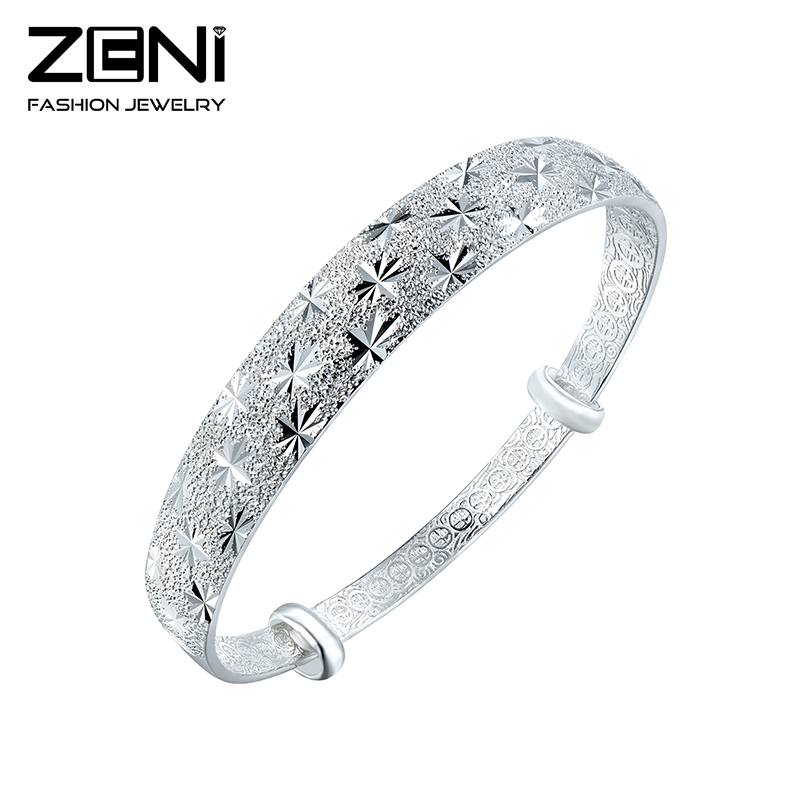 2016 Fine Jewelry 999 Sterling Siver Bracelets &amp; Bangles For Women with Fashion Star Paint Design Gift Zeni Jewelry<br><br>Aliexpress