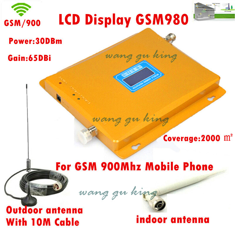 LCD display! mobile phone GSM 980 900mhz signal boosters,cellular phone GSM signal repeater gsm signal amplifier with antenna(China (Mainland))