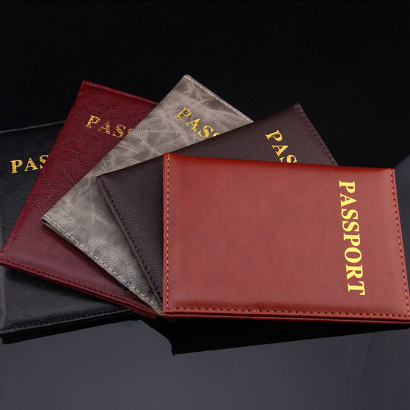 1pc Fashion Passport Cover PU Leather ID Holders Documents Bag Casual Travel Passport Holder Card Case