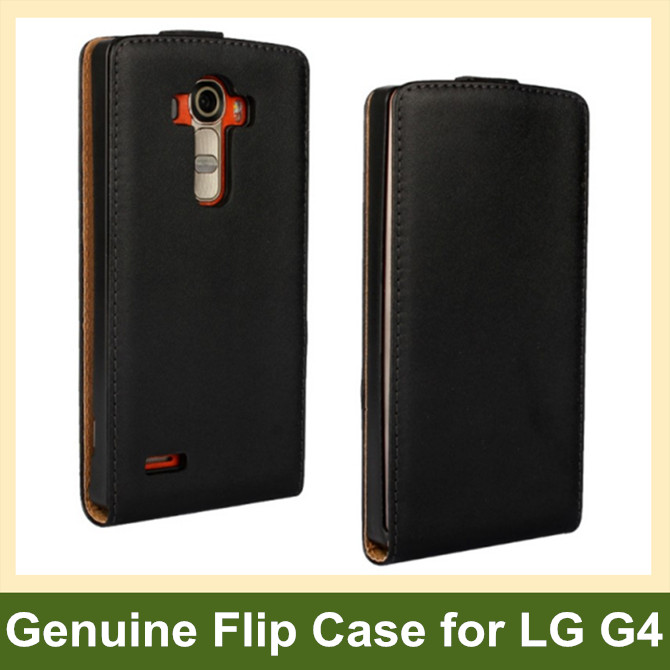 Genuine Leather Flip Cover Case for LG G4 H815 H818 with Magnetic Snap 100pcs/lot