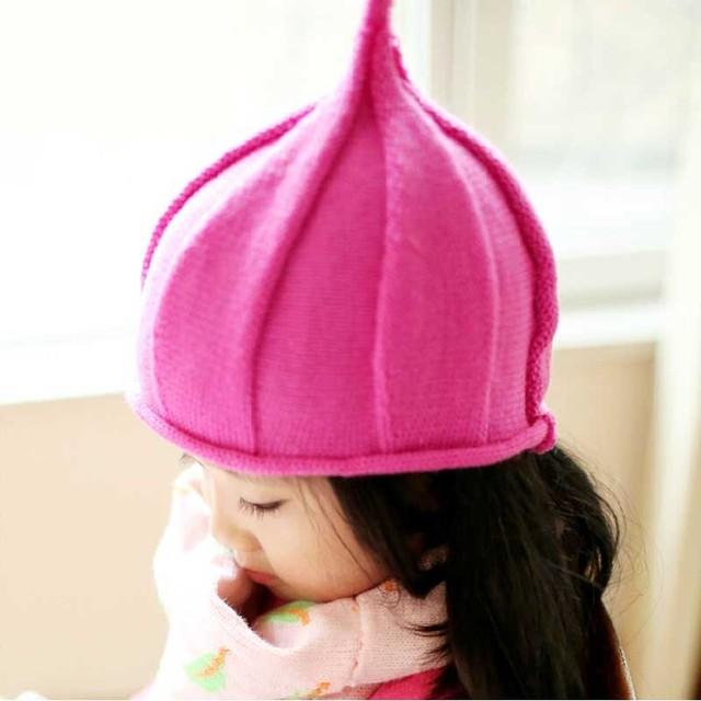 9 цветов стиль кепка девочки-младенцы / мальчики шляпы дети трикотаж шляпа, Конфеты цвет зима вязка крючком шляпа для мальчики девочки